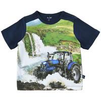 T-shirt met tractor print enwatervallen