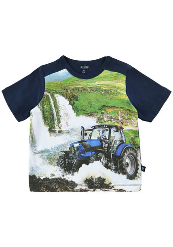 ME TOO T-shirt with print tractor and waterfalls size 80-116