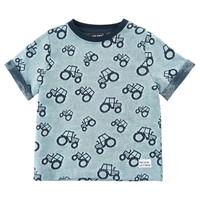 thumb-Kinder T-shirt met 'all- over' tractoren print-2