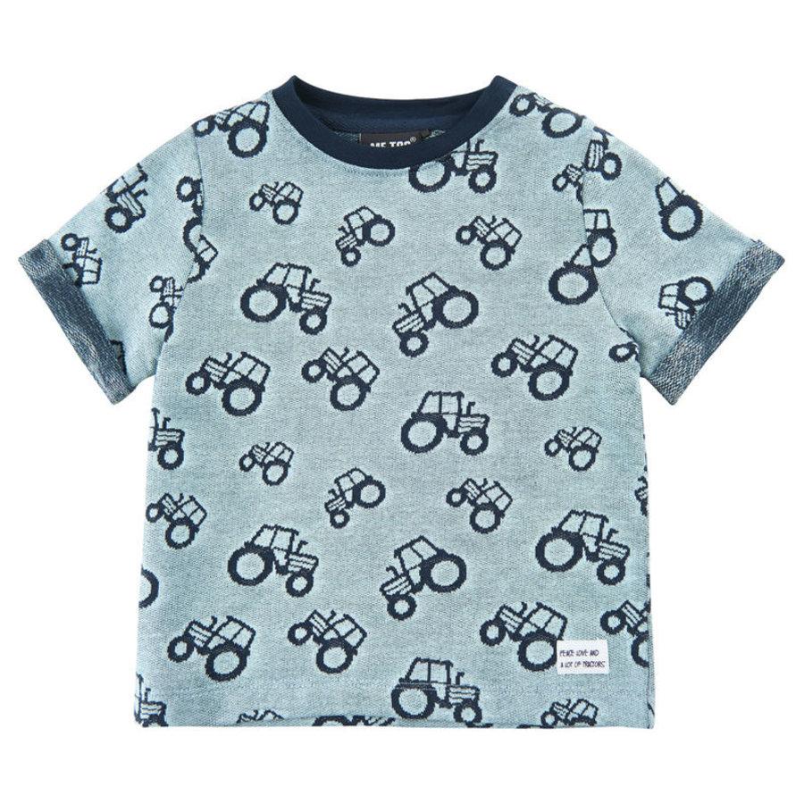 Kinder T-shirt met 'all- over' tractoren print-2