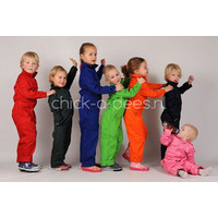 thumb-Children's overall printed with tippers-3