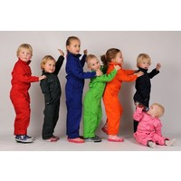 thumb-Children's overall printed with excavators-3