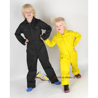 thumb-Children's overall printed with excavators-4
