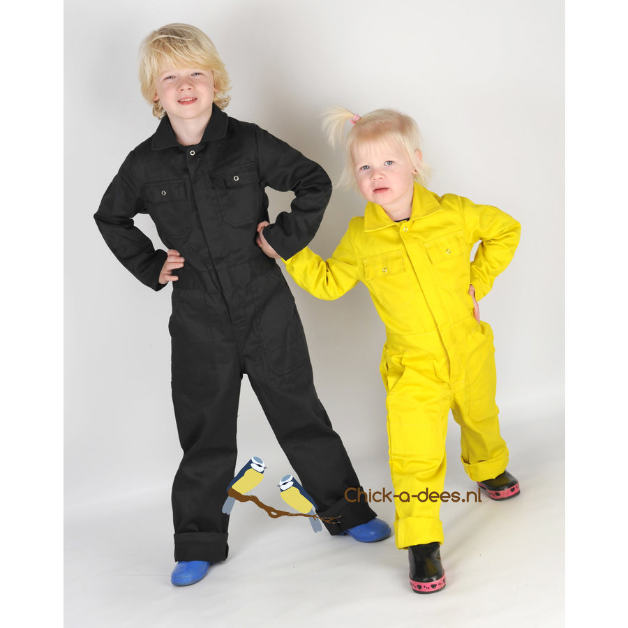 Children's overall printed with digging machines-4