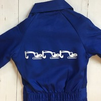 thumb-Children's overall printed with excavators-1