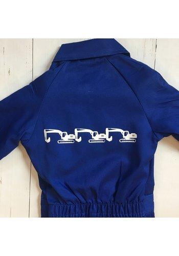 Children's overalls with excavators