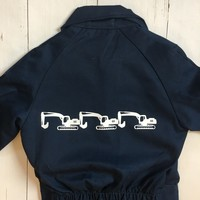 thumb-Children's overall printed with digging machines-2