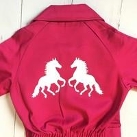 thumb-Kinderoverall bedrukt met paarden bedrukking-1