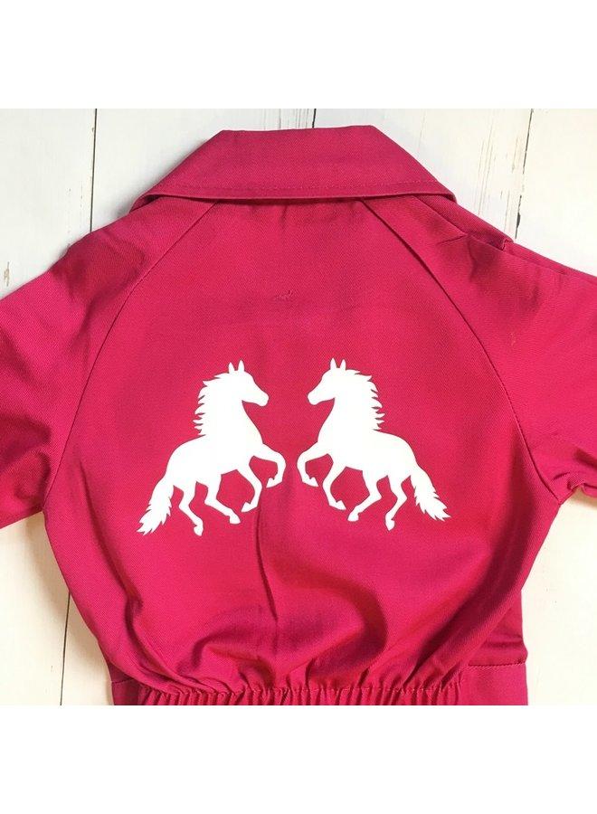 Kinderoverall met paarden bedrukking