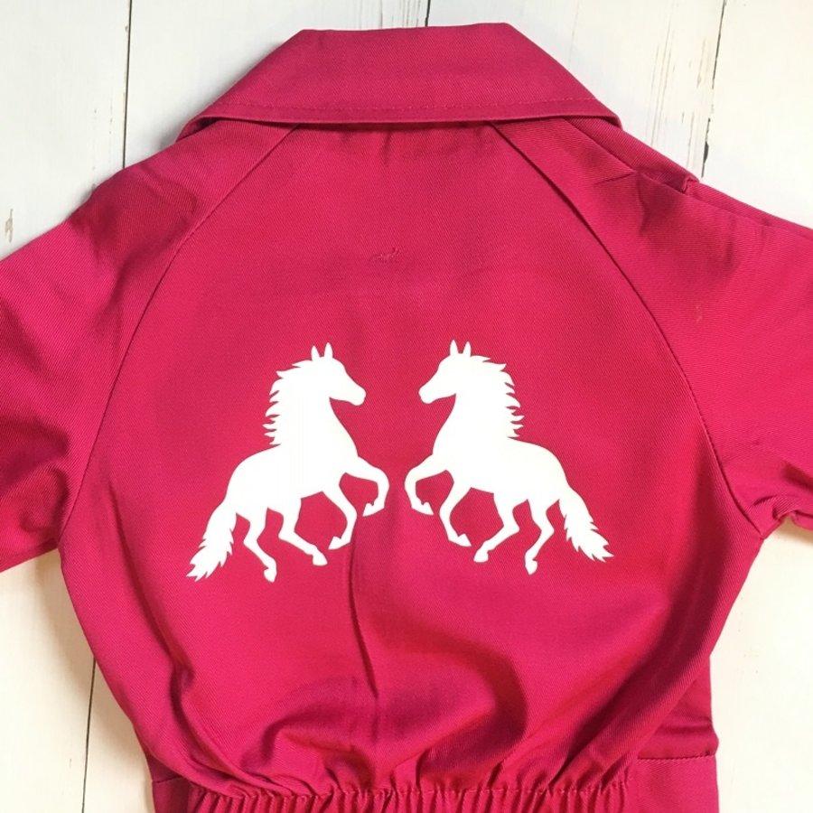 Kinderoverall bedrukt met paarden bedrukking-1