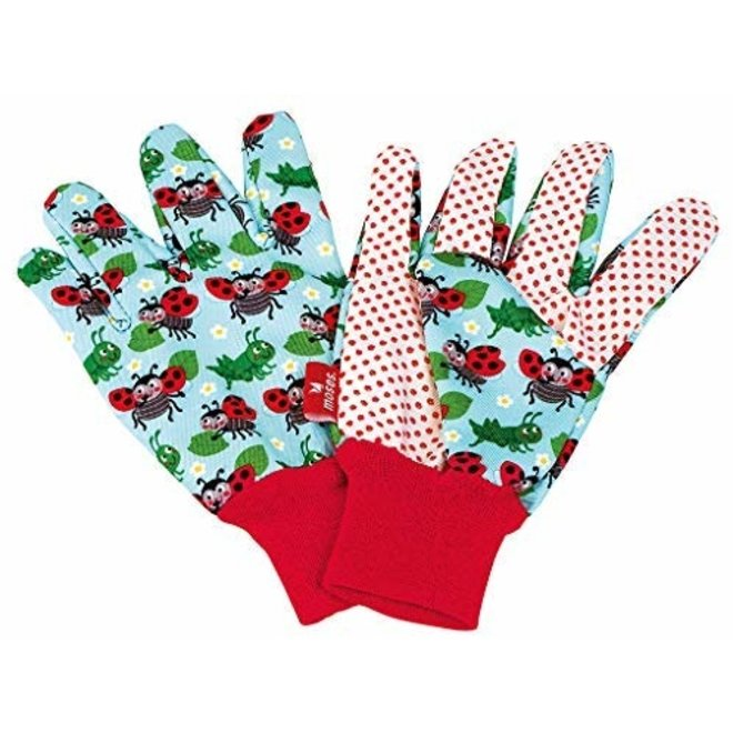 Garden gloves for children light blue