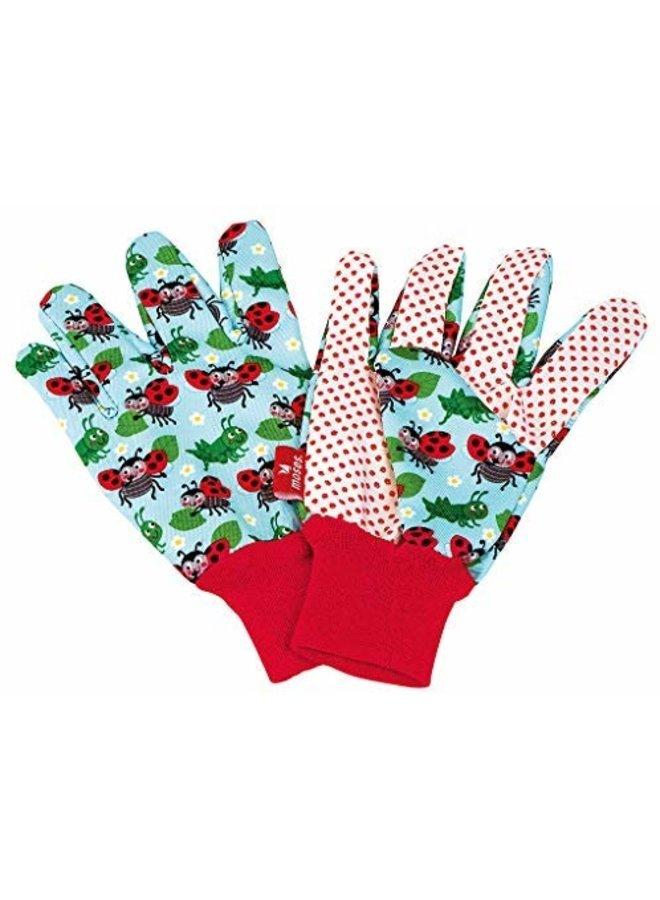 Children's garden gloves light blue design
