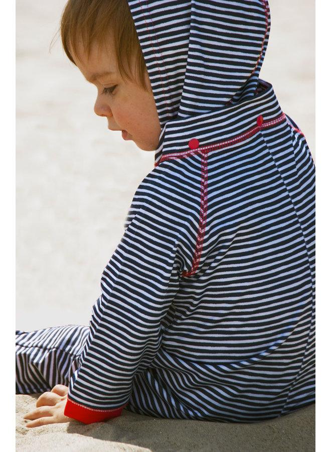 UV lucrasuit lange mouwen en afneembare capuchon | Flicflac