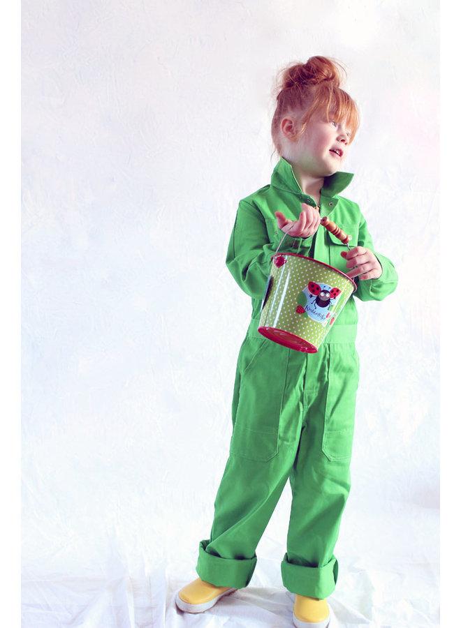 Kinderoverall limegroen