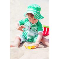 thumb-UV baby zonnehoedje in groen/wit | Aruba-2