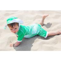 thumb-UV baby zonnehoedje in groen/wit | Aruba-3