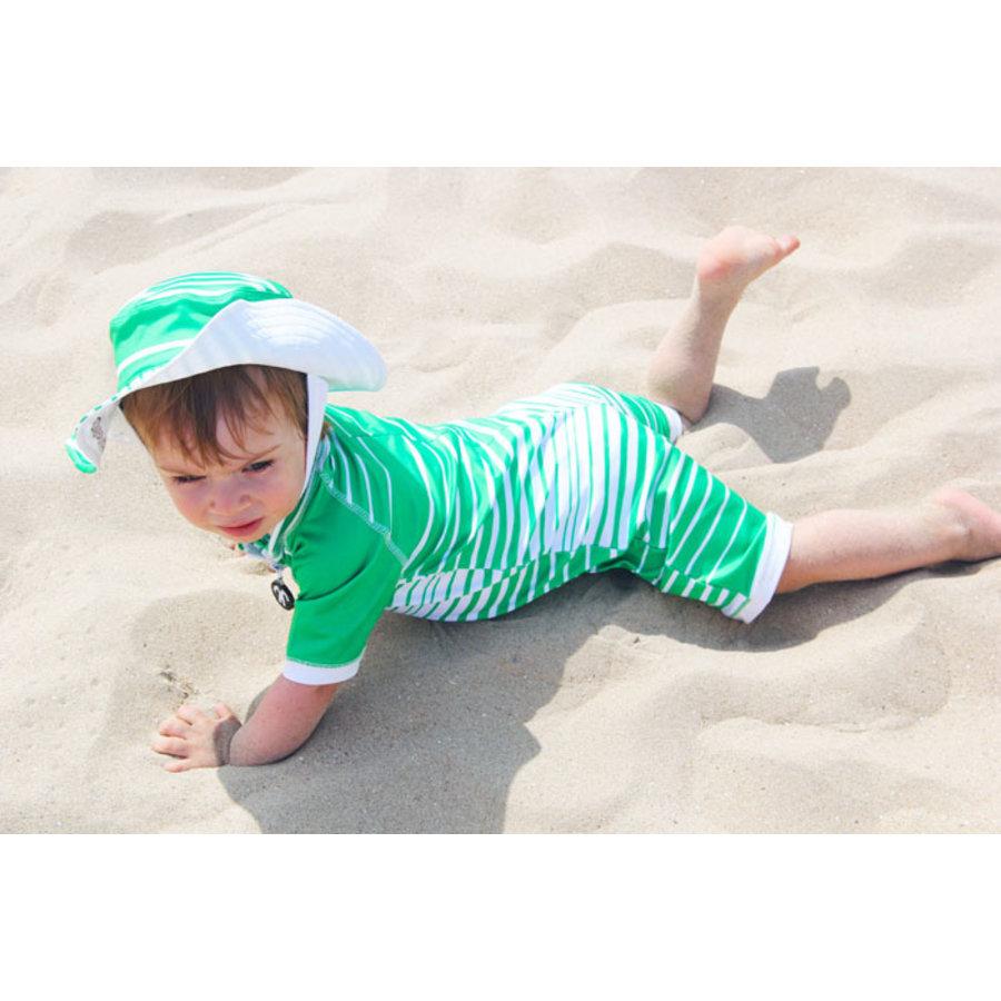UV baby zonnehoedje in groen/wit | Aruba-3