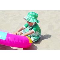 thumb-UV baby zonnehoedje in groen/wit | Aruba-1
