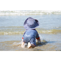 thumb-UV baby sun hat in blue / white | FlicFlac-2
