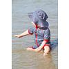 Ducksday  UV baby sun hat in blue / white | FlicFlac