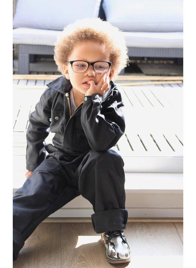 Kinderoverall   zwart