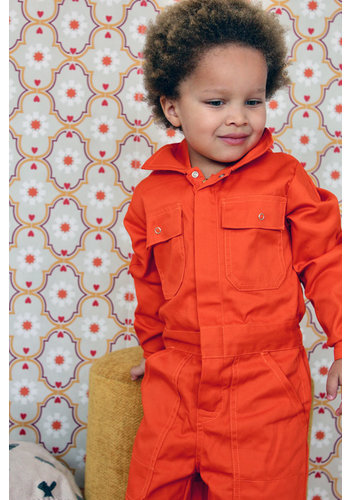 Children's overall orange