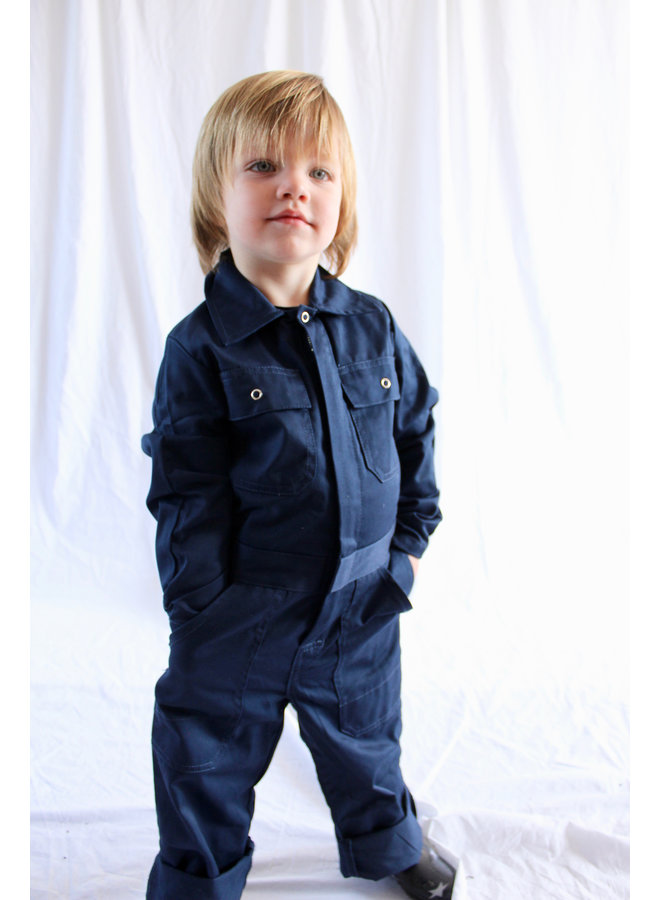 Kids overall navy blue