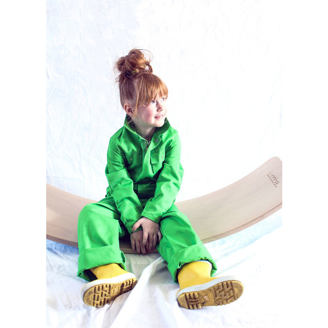 Children's overall lime green