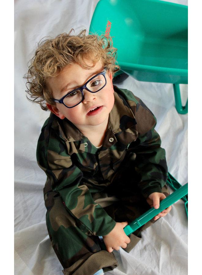 Kinderoverall in camouflage kleuren