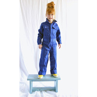 thumb-Children's overall red or royal blue-4