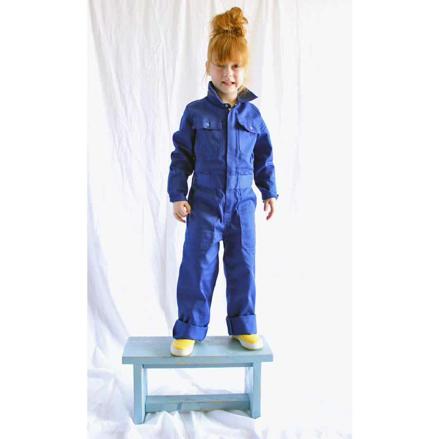 Children's overall red or royal blue-4