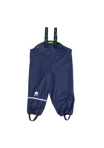 CeLaVi Navy blue kids rain pants | suspenders