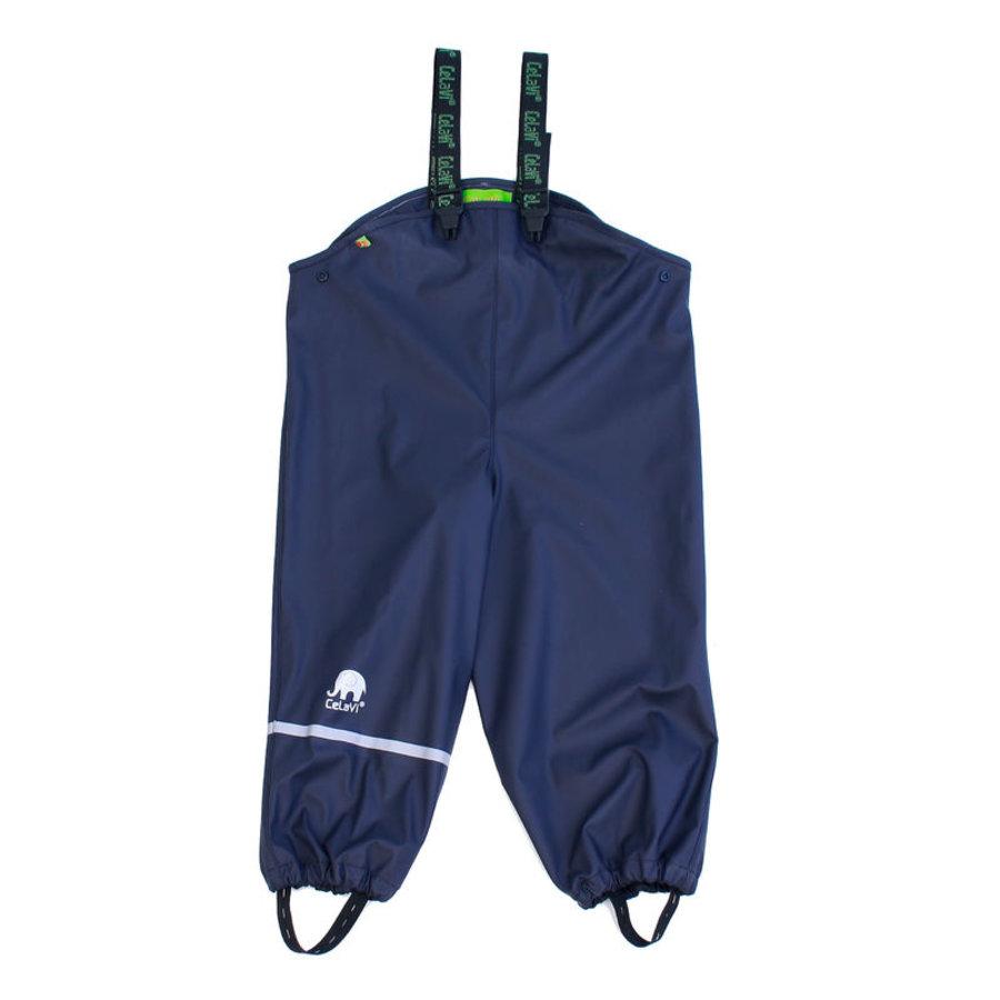 Sustainable children's rain pants navy blue | braces | 110-130-1