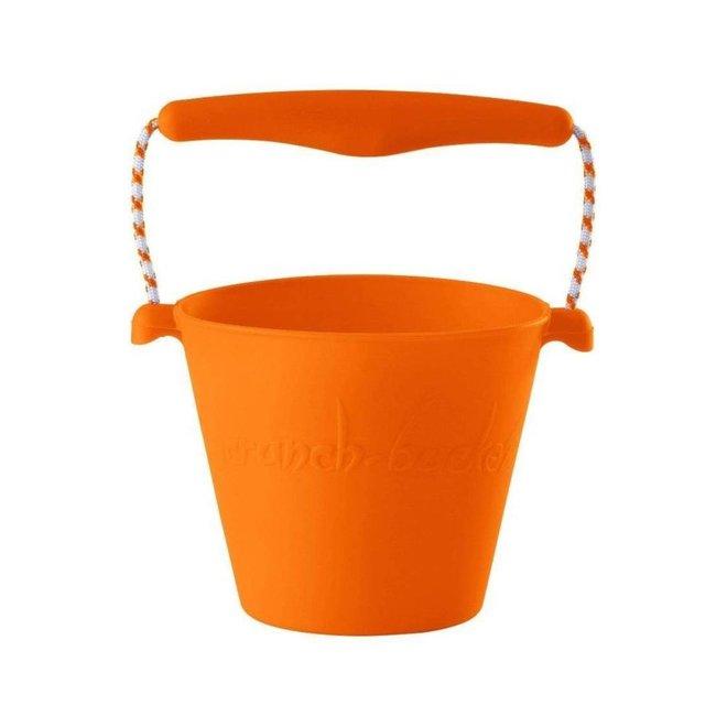 Silicone bucket orange   foldable