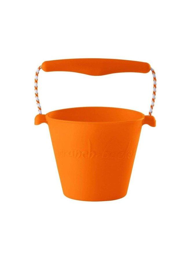 Silicone bucket orange | foldable