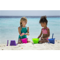thumb-Silicone bucket lime green | foldable-2