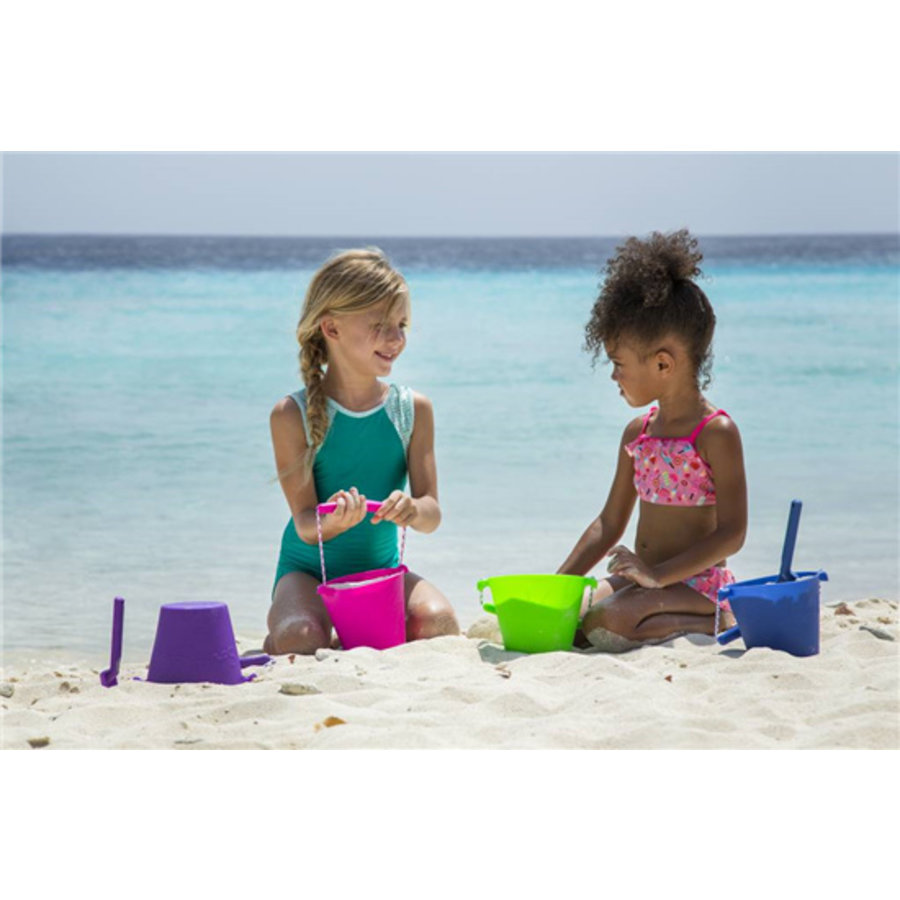 Silicone bucket lime green | foldable-2