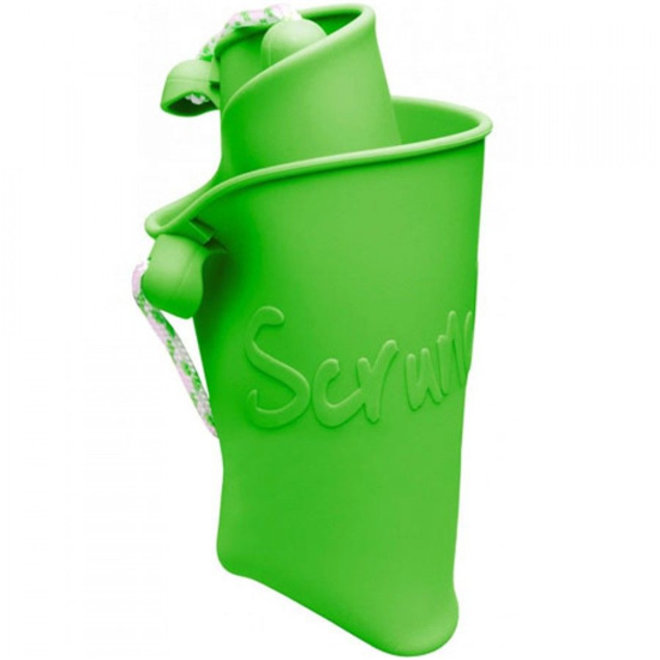 Silicone bucket lime green   foldable
