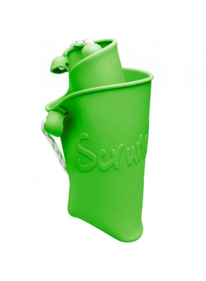 Siliconen emmer lime groen   opvouwbaar