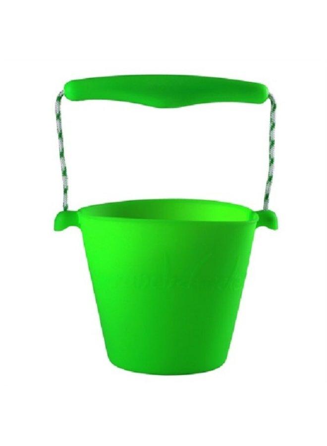Siliconen emmer lime groen | opvouwbaar