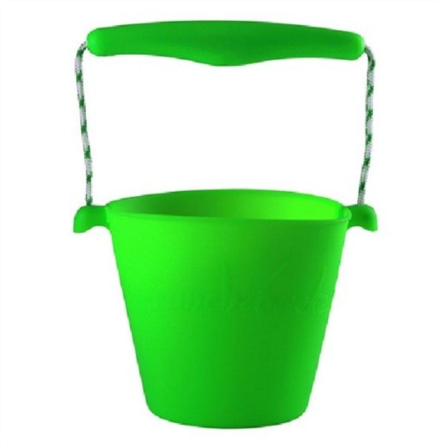 Siliconen emmer lime groen | opvouwbaar-1