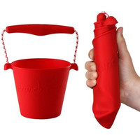 thumb-Silicone bucket red | foldable-1