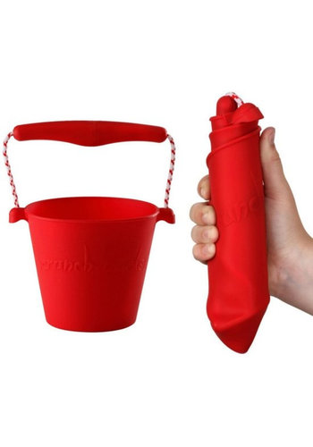 Foldable bucket red