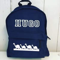 thumb-Junior backpack with name printing and dinosaurs-2