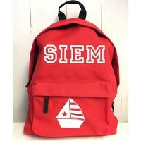 thumb-Junior backpack with name print and sailboat-1