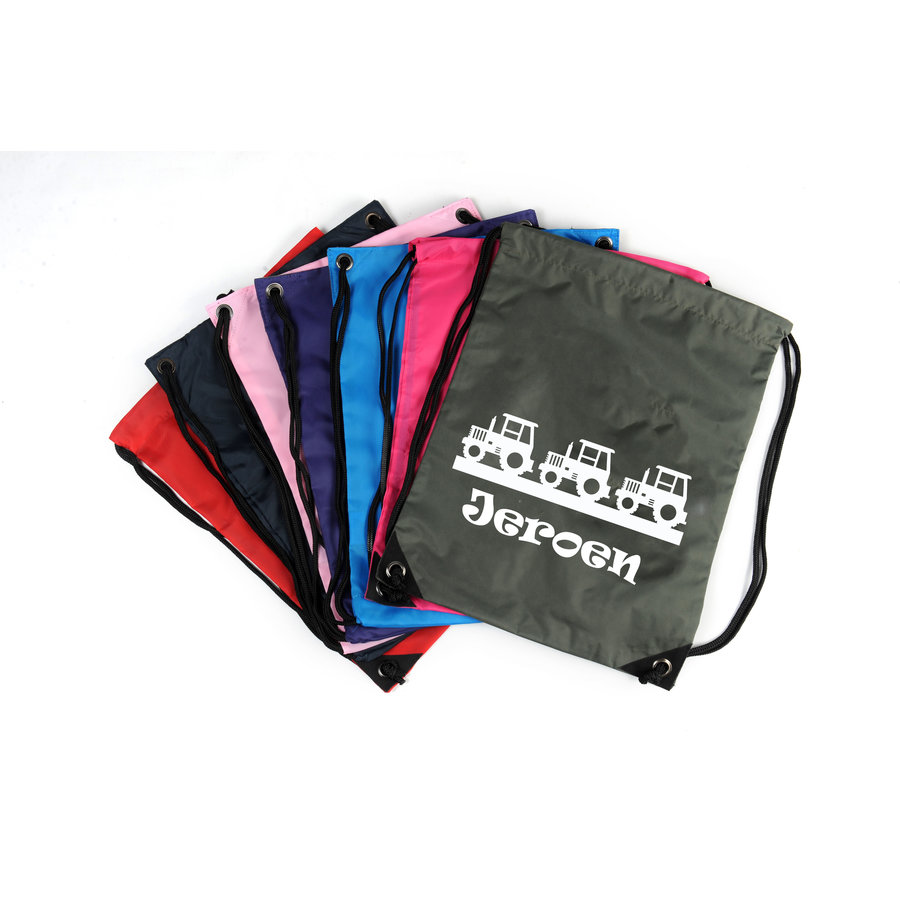 Gym bag with rim of tractors and a name print-1