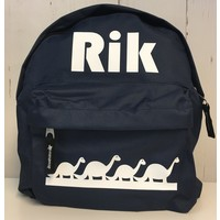 thumb-Toddler backpack with name and border of dinosaurs-1