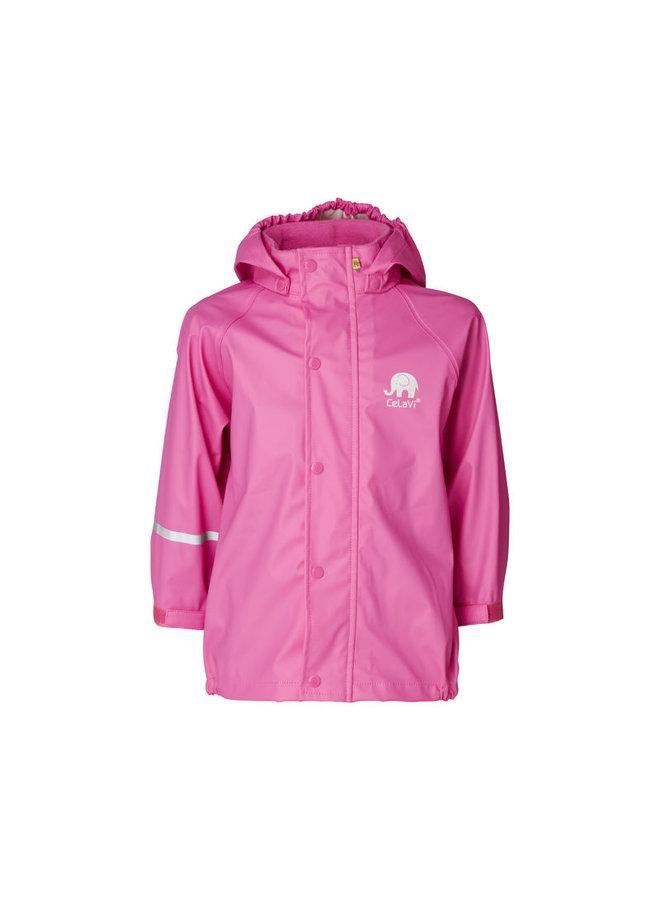 Waterproof pink raincoat 80-140