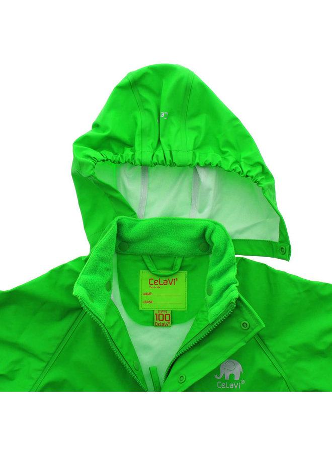 Lime green children's raincoat | 80-140