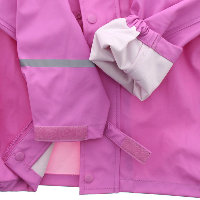 Waterdichte roze kinderregenjas  | 80-140